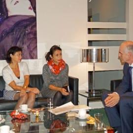 sandra en lody bij NL ambassadeur